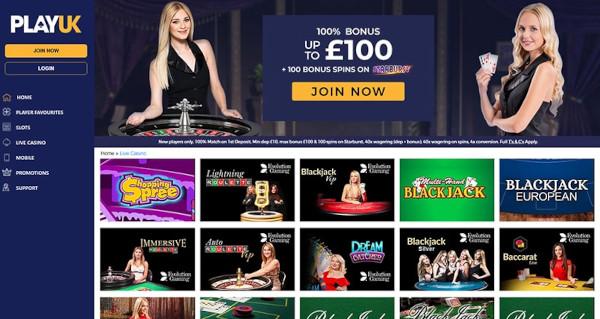 playuk casino games